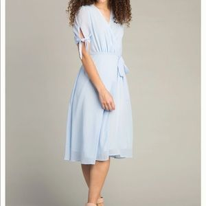 Called to Surf Blue Wrap Dress
